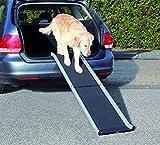 Trixie Aluminio petwalk Plegable rampa para Perro, 155x 38cm, Color Negro