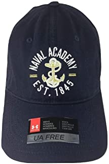 Under Armour Men's Naval Academy Navy Blue Adjustable Cap