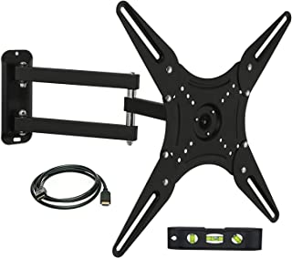Mount-It! MI-2065L Full Motion Swivel Articulating Arm LCD, LED 4K TV Wall Mount Bracket for 23-55 inch Screen Size, Compatible with VESA 400x400, 66 lbs Capacity, Tilt, Swivel, and Rotation Motion