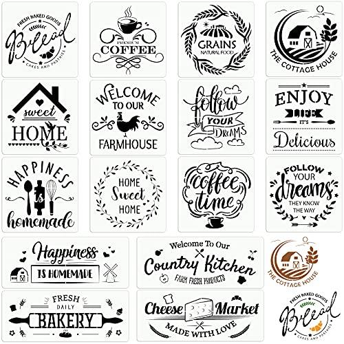 16 Stencil da Cucina in Fattoria Cartello Rustico per Pane Fresco Fatto a Casa Modelli Artistici da...