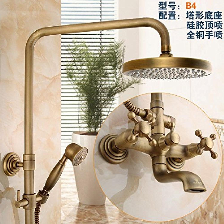 Gyps Faucet Basin Mixer Tap Waterfall Faucet Antique Bathroom Mixer Bar Mixer Shower Set Tap antique bathroom faucet All copper antique faucets antique elevator shower large shower faucet kit GY859B4