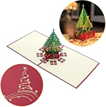 Black Sale Friday Deals Cyber Deals Monday Deals Sales 2018-3D Pop Up I Love Mom Handmade Luck Best Wish Greeting Card Kirigami Paper Craft (Xmas Tree)