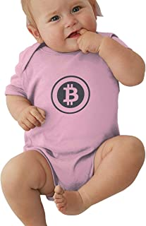 AHQN Bitcoin Symbol Soft and Comfortable,Quickly Dry and Breathable, Romper Infant Summer Clothing