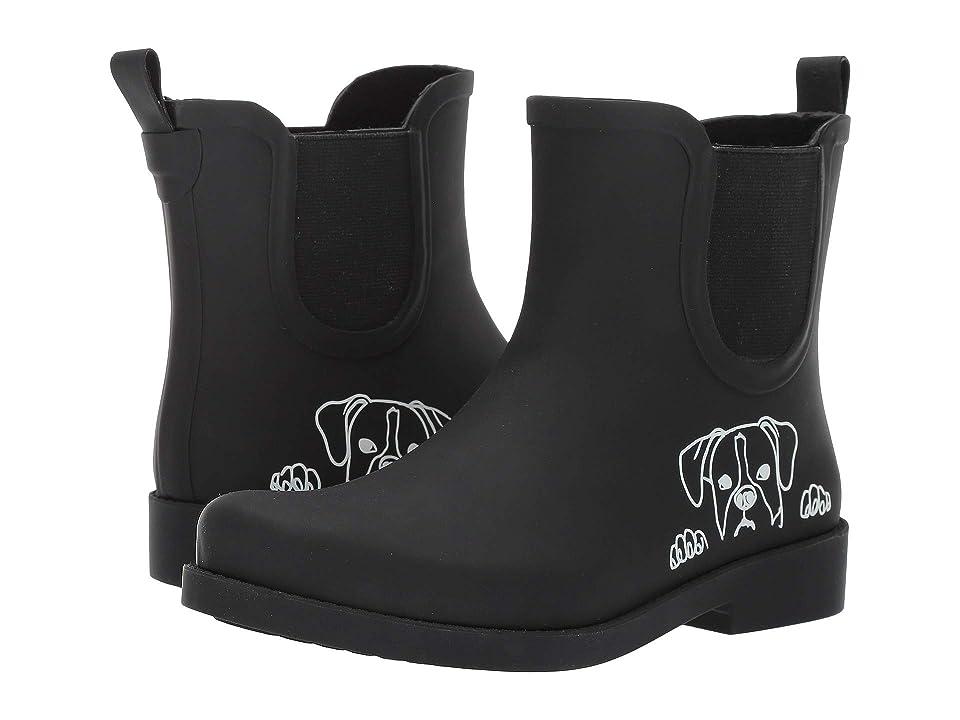 ED Ellen DeGeneres Wallita Rain Boot (Black/White Dog) Women