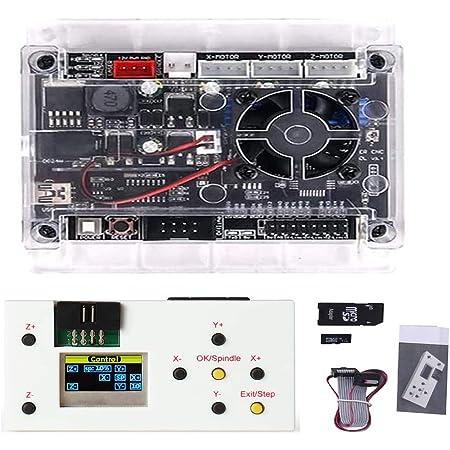 Tablero de control GRBL 1.1 actualizado con ventilador de refrigeraci/ón para 1610//2418//3018 M/áquina de grabado l/áser DIY Conexi/ón USB avec Controlador sin conexi/ón Pour 3 ejes CNC