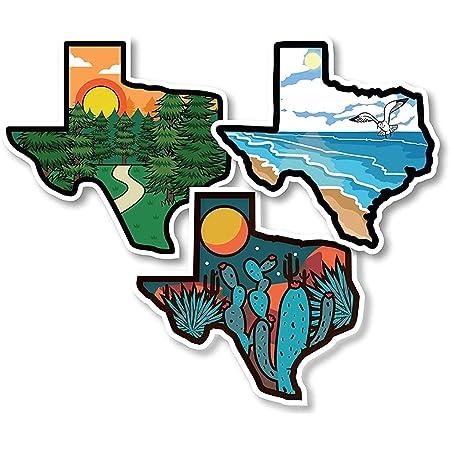 CMI197 Texas state with heart vinyl decal bumper sticker