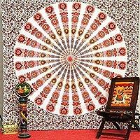 タペストリー インドのマンダラヒッピーホーム装飾壁掛けボヘミアビーチマットヨガマットベッドカバーテーブルクロス210x148CM (Color : H60, Size : 210x148CM)