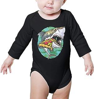 XHX Baby I Love Pizza Long Sleeve Romper Onesie Bodysuit Jumpsuit