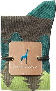 Giraffe Cool Calcetín para Hombre de Color Bosque