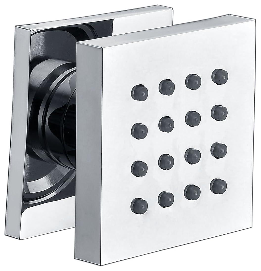 床スモッグ年次Alfiブランドab4501モダン正方形調整可能シャワーボディスプレー AB4501-PC 1