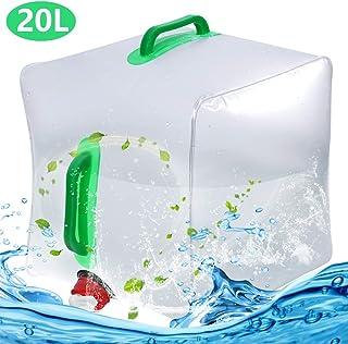 BESTZY Bidón de Agua Plegable Depósito de Agua Contenedores de Agua, Plegable y Flexible envases para Uso en Exteriores barbacoas acampadas Senderismo Escalada (20L)