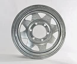 Trailer Rim Wheel 15 x 6 in. 15x6 6 Lug Hole Bolt Wheel Galvanized Spoke Design