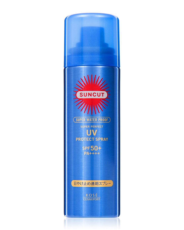 専門化する駐地楕円形KOSE コーセー サンカット 日焼け止め 透明 スプレー 無香料 50g SPF50+ PA++++ スーパー ウォータープルーフ