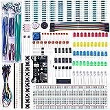 elegoo kit elettronico con breadboard di 830 punti, cavetti, modulo alimentazione, potenziometri per raspberry pi uno r3 mega2560