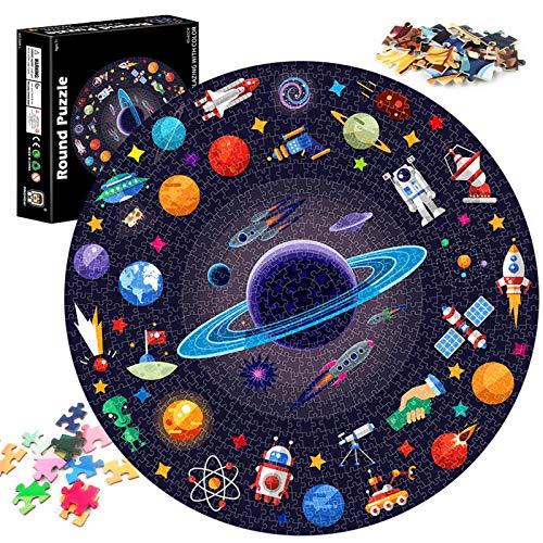 Puzzle Redondo 1000 Piezas,Puzzle,Rompecabezas Redondo,Puzzle Creativo,Puzzle Adultos (Espacio)