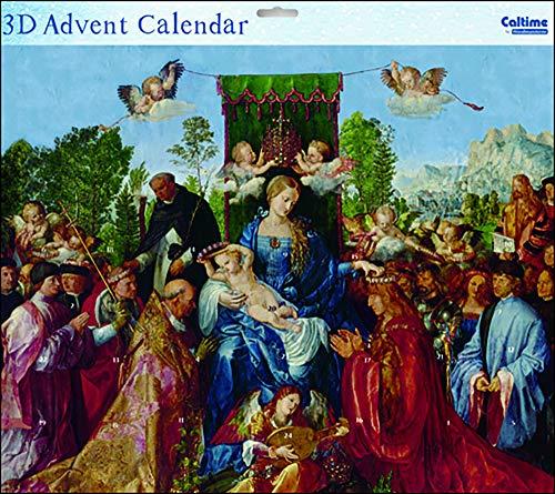 Caltime Madonna and Child Tableau Mère et Enfant Religieux 3 D Grand Avent Paillettes 442 x 362 mm