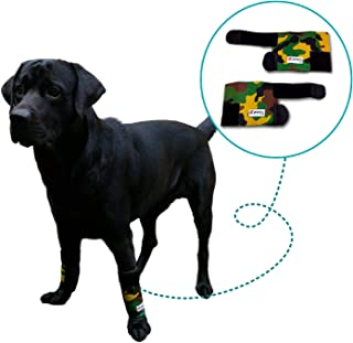 Pet Lovers Stuff Dog Brace Front Leg Support - Pair of Compression Wraps for Arthritis in Joints, Sprains or Strains of The Wrist, Carpal Injury, Wound Healing