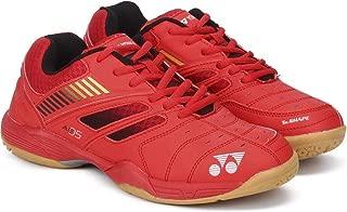 Yonex Junior Non Marking Badminton Shoes, Coral Red/Orange