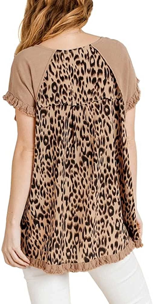 Department store umgee shopping USA Women's Animal Cotton Toffee X-Large Top