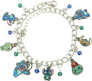 Outlander Disney's Stitch Scrump Charm Bracelet Movie Series Jewelry Multi Charms - Wristlet Gear Movie Collection