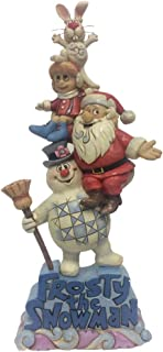 Enesco Stacked Frosty and Friends Décor, Multicolor