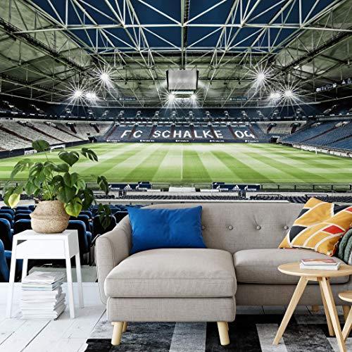 Schalke 04 Fanartikel FC Tapete Fussball Fototapete Fußballstadion Veltins Arena XXL Wandposter 432 x 300 cm