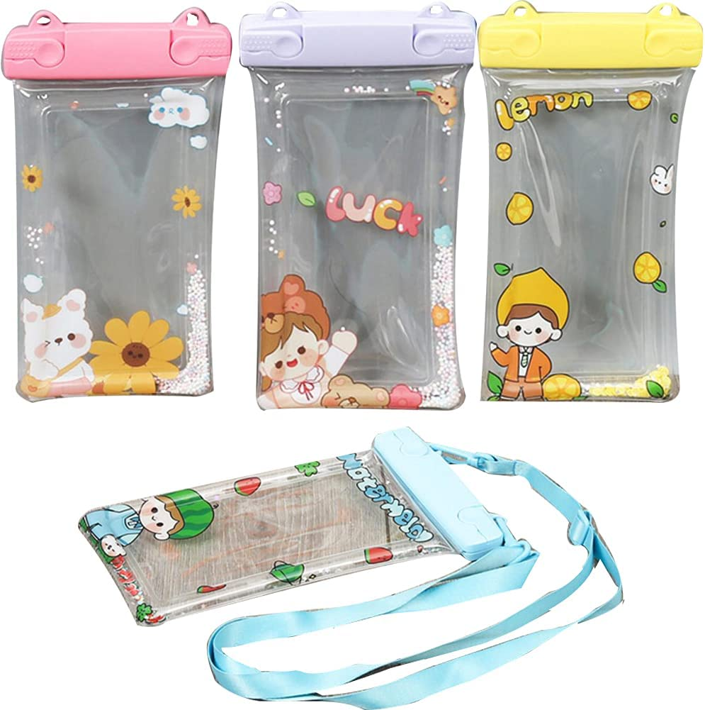 Set of 4pc Waterproof Phone Bags Universal Phone Pouch Dry Bag Fully Airtight Cellphone Pouch Cell Phone Dry Bags