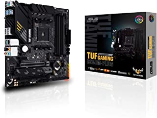 ASUS TUF GAMING B550M-PLUS - Placa Base Gaming mATX AMD AM4 con VRM de 10 fases, PCIe 4.0, dual M.2, Intel 2,5Gb LAN, HDMI...