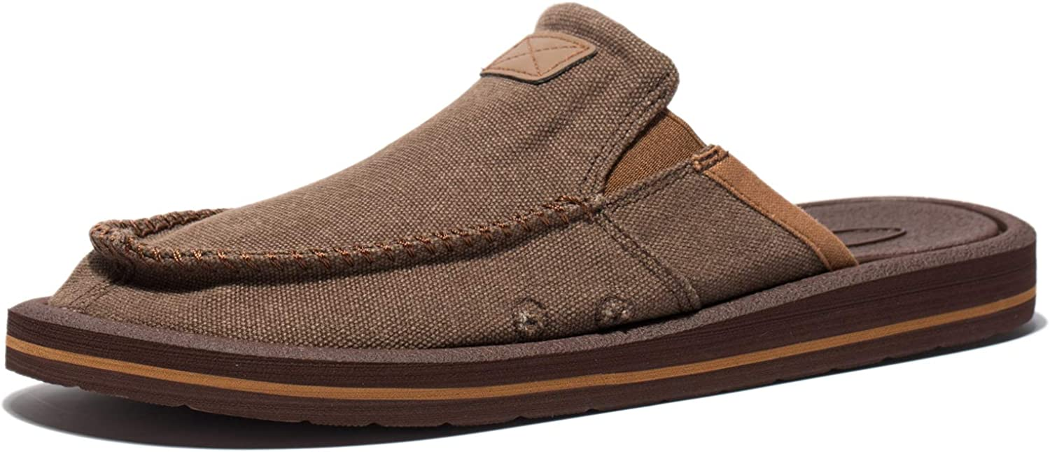 VIIHAHN Men's Casual Canvas shoes Lightweight Slippers Comfortable Slip-On Loafer Flats