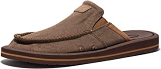 Anlarach Men's Casual Canvas Shoes Lightweight Slippers Slip-On Loafer Flats