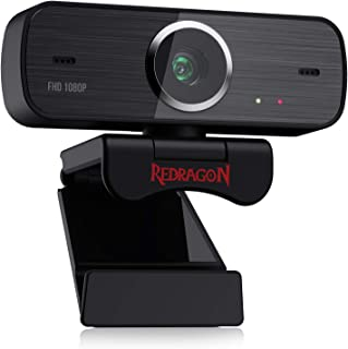 Redragon GW800 1080P Webcam with Built-in Dual Microphone, 360-Degree Rotation - 2.0 USB Skype Computer Web Camera - 30 FP...