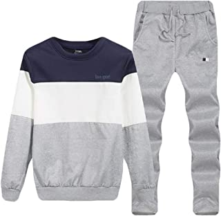 Men Sweatshirt Top Pants Sets Long Sleeve Hoodie Sports Suit Tracksuit