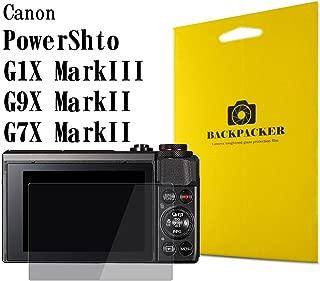 【BACKPACKER】 カメラ液晶保護ガラス 液晶プロテクター 0.33mm強化ガラス使用 9H硬度 高鮮明 Canon PowerShot G7X MarkII / G5X / G9X用