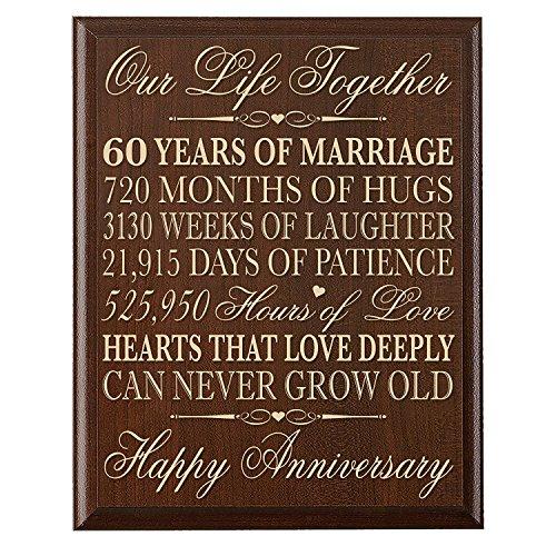 Wandschild zum 60. Hochzeitstag Geschenke für 60. Hochzeitstag Paar, 60. Jahrestag Geschenke für SIE, Geschenke für ihn 30,5cm W x 38,1cm H Wandschild von Dayspring Meilensteine