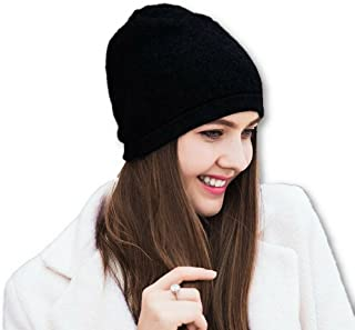 100% Cashmere Beanie for Women in a Gift Box, Oversized Women Beanie Hat