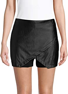 BCBGeneration womens Faux Leather Overlap Skort Faux Leather Overlap Skort