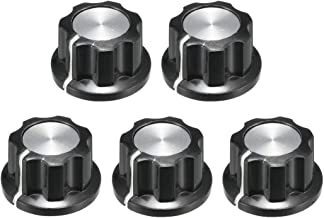 uxcell® 5Pcs 19.5x11mm Silver Tone Top Potentiometer Volume Control Rotary Knobs,for 6mm Diameter Shaft Guitar Volume Knob.