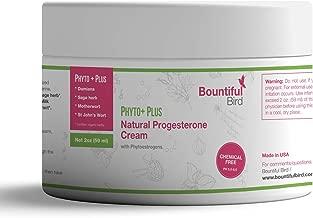 Phyto Plus Natural Progesterone Cream - with Organic Phytoestrogens, 100% Money Back Guarantee, Bioidentical Progesterone, Hormone Balance Cream, Manage PMS & Menopause Symptoms Naturally (2 oz)