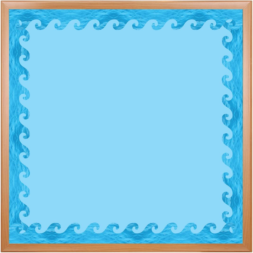 Hygloss Products Ocean Waves Die-Cut Board Genuine Bulletin Super beauty product restock quality top! †Border