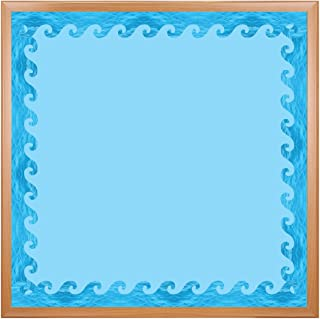Hygloss Products Ocean Waves Die-Cut Bulletin Board Border – Classroom Decoration – 3 x 36 Inch, 12 Pack