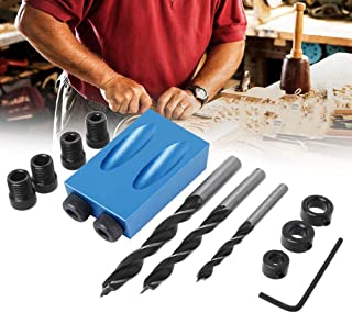 Cheviller Jig-bois Handheld Drill Guide trou Outils de scie Guide de forage Positionneur outil de localisation