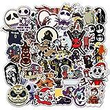 Pegatinas de Halloween,Halloween Stickers 50 piezas Demonio Calabaza Fantasma Pegatinas para Ordenador portátil Motocicleta Bicicleta Maleta de equipaje Refrigerador Guitarra Decoración de fiesta