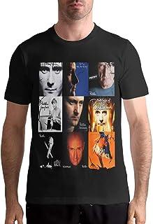 Camiseta Phil Collins Camiseta de algodón para Hombre Camisetas de Manga Corta a la Moda