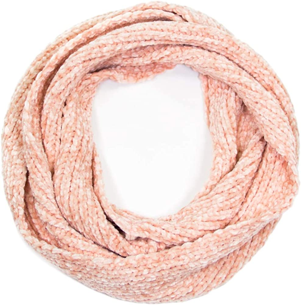 Me Plus Women Winter Soft Chenille Knitted Infinity Fashion Circle Loop Warm Scarf (2 Styles)