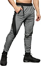 FASKUNOIE Slim Fit Joggers Tapered Sweatpants for Gym Running Athletic with Zipper Pockets