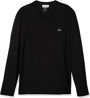 Lacoste Men's Long Sleeve Jersey Pima V-Neck T-Shirt