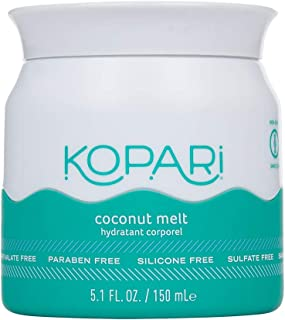 Kopari Organic Coconut Melt - All-over Skin Moisturizing, Under Eye Rescuing, Hair Conditioning + More With 100% Organic Coconut Oil, Non GMO, Vegan, Cruelty Free, Paraben Free and Sulfate Free 5 Oz