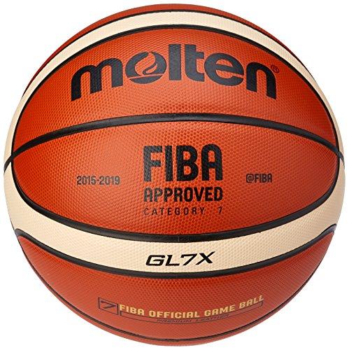 Molten BGLX - Balón de Baloncesto Senior Femenino, Naranja y Marrón claro, Talla 6