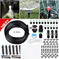"Innoo Tech 138FT/42M Drip Irrigation Kit Sprinkler System with 1/4"" Blank Distribution Tubing Watering Drip Kit/DIY Saving Water Automatic Irrigation Equipment Set for Garden Greenhouse, Lawn"