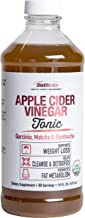 DietWorks Organic Apple Cider Vinegar Tonic with Garcinia, Matcha & Kombucha, Certified Organic, Natural Cleanse and Detox, 16 fl. oz, White and Red